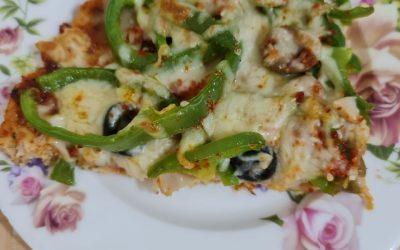 بيتزا الدجاج للكيتو دايت بدون طحين