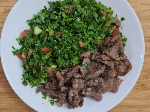 شاورما لحم كيتو